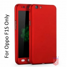 All-round Full Phone Protection Slim Fit Both Side Case Back Cover for Oppo F1S - Red